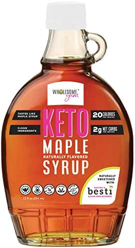 Wholesome Yum Keto Maple Syrup Sugar Free Pancake Syrup With Monk Fruit Allulose 12 fl oz Naturally product image
