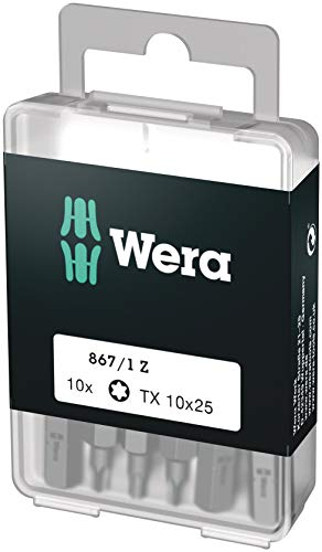 Wera Bit-Sortiment, 867/1 TX 10 DIY, TX 10 x 25 mm (10 Bits pro Box), 05072406001