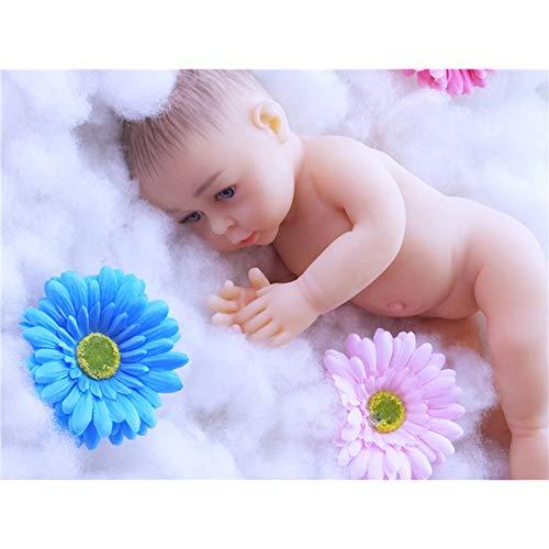 DXFK.AM 46cm Realistisch Wiedergeboren Baby Puppe, PVC-frei, Rostfreier Stahl Skelett Ganzkörper Silikon Real Baby Puppen, Lebensecht Weich Handgemacht Silikon Puppe, Nicht Vinyl Material Puppen