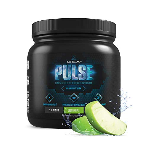Legion Pulse Pre Workout Supplement - All Natural Nitric Oxide Preworkout Drink to Boost Energy &...