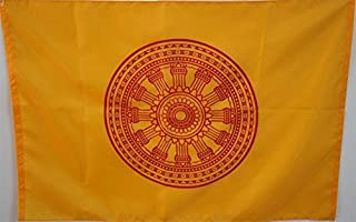 Best Quality Of Buddhist flag 100% Polyester Buddhist Prayer Flags Size:60x90 cm (Yellow Flag)