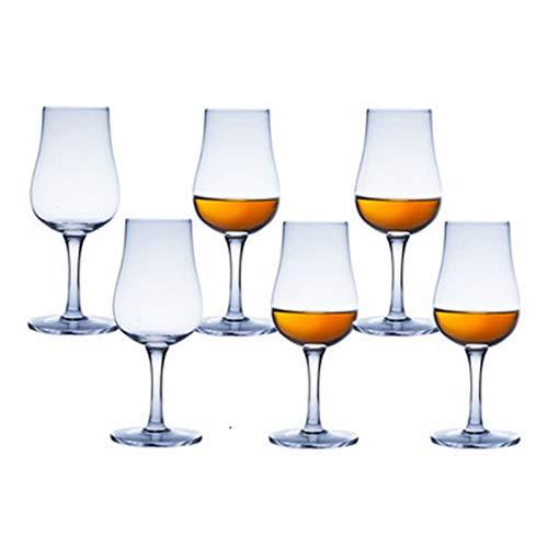 Japanische Retro Whiskey Copita Nosing Glas Vintage Geisha Chateau Home Bar Chivas Brandy Whiskey Kristallkelch Weingläser Cup (Farbe : 6 Pieces)