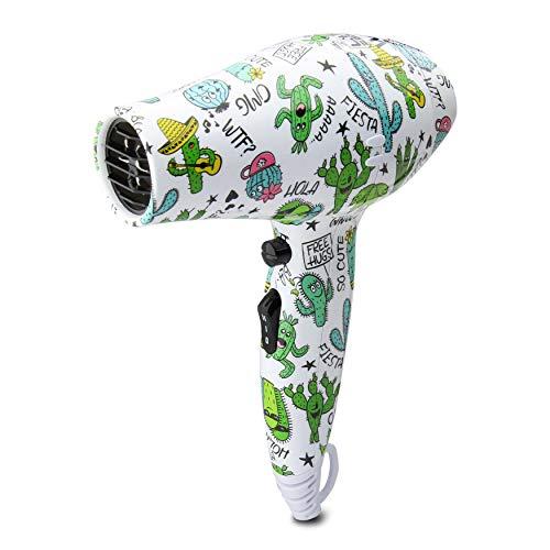 Secador de cabello LIM HAIR WR 3.0 para viaje, gimnasio o para cada día. 1200 W, boquilla, difusor y bolsa incluida. Tamaño reducido mini. Secador o W'21 PACK (CACTUS, SECADOR)