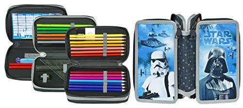 Star Wars Federmäppchen für die Schule I Schlampermäppchen für Stifte, Lineal, Radiergummi etc.