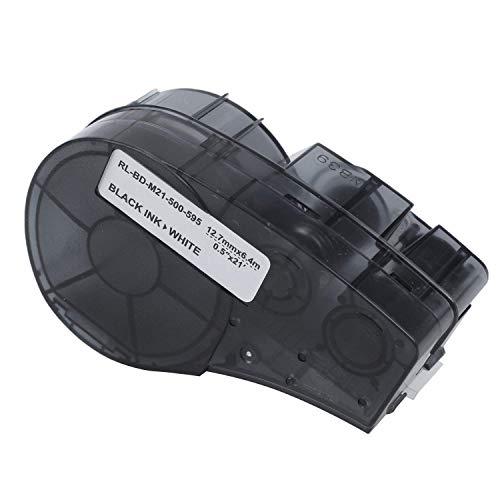 SIMNO JIAHONG Accesorios 12.7mm 6.4M de Alta dhesion Vinilo Etiquetado Cinta M21-500-595 WT-Label Maker Compatible for Brady BMP21-PLUS Impresora de Etiquetas Impresora 3D