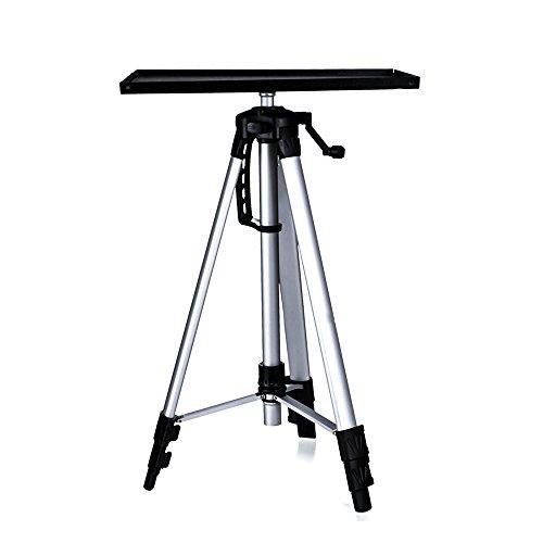 Moutik Lega di Alluminio proiettore DV Video Camcorder treppiede Supporto Portatile Regolabile in Altezza da Viaggio Leggero TR