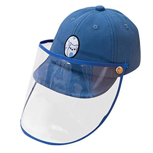 ROUNYY Kopfschutz Baby Sonnenhut Abnehmbar Anti-UV-Sonhut Gesichtschutz Mütze Schutzhutabdeckung Anti Staub, Anti Fog, Anti-Beschlag, Atmungsaktiv perfekt Unisex (Blau)