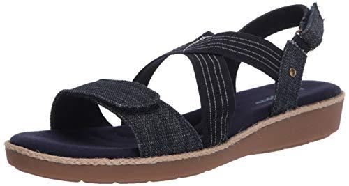 Grasshoppers Women's Leah 2 Sandal Sneaker, Navy, 7.5 W US