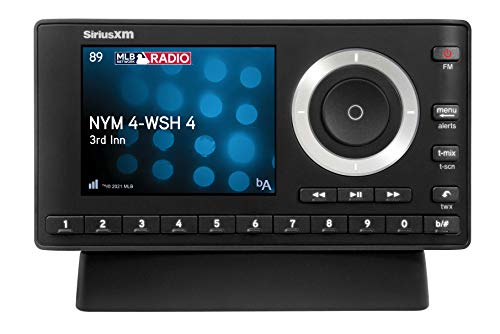 SiriusXM SXPL1H1 Onyx Plus Satellite Radio with Home Kit, Receive 3 Months Free Service with Subscription – Enjoy SiriusXM Through your Home Stereo or Powered Speakers on this Dock and Play Radio