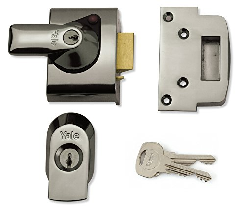 Yale Locks YALPBS2CH BS2 Nightlatch British Standard Serrure 40mm Backset Chrome Terminer Visi