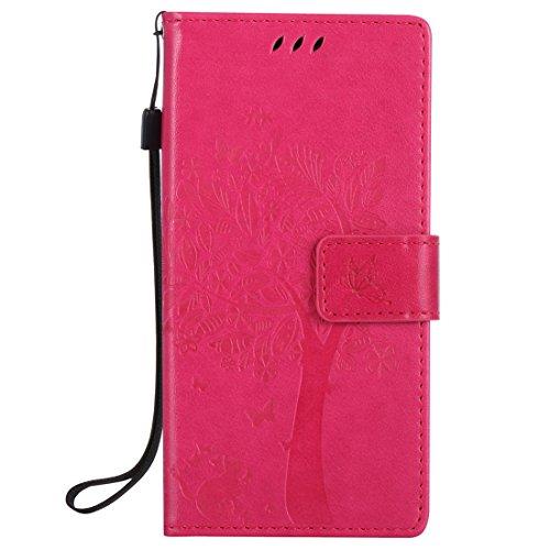 Nancen Compatible avec Sony Xperia XZ XZS (5,2 Pouces) Coque Haute Qualité PU Cuir Flip Étui Coque de Protection Wallet/Portefeuille Case Cover Housse - avec Carte de Crédit Fente