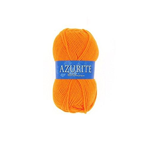 Pelote de laine Azurite 100% Acrylique Tricot Crochet Tricoter - Orange - 007