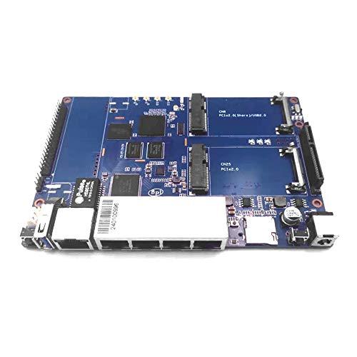 Banana Pi BPI R64 Smart WiFi Router Kit - Enrutador inalámbrico de alta velocidad, banda dual, puerto OpenWRT de 5 Gigabit para servidor VPN NAS