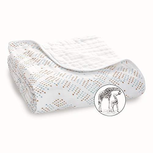 aden + anais - Couverture de Rêve, Couverture Bébé en Mousseline 100% Coton, Douce et Confortable, Adaptée pour les Nouveaux-nés, Pour Fille et Garçon, Multicolore, 120x120 cm