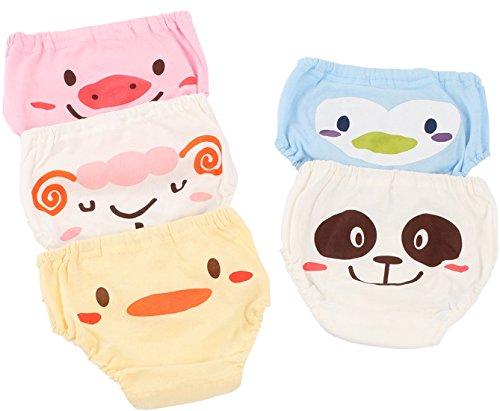 Joyo roy - Pack de 5 Unidades de Braguita de Algodón para Bebés Transpirable Cómodo con Cintura Elástica Braga Niñas con Estampado Lindo Underwear Infantil Suave - 9 Meses