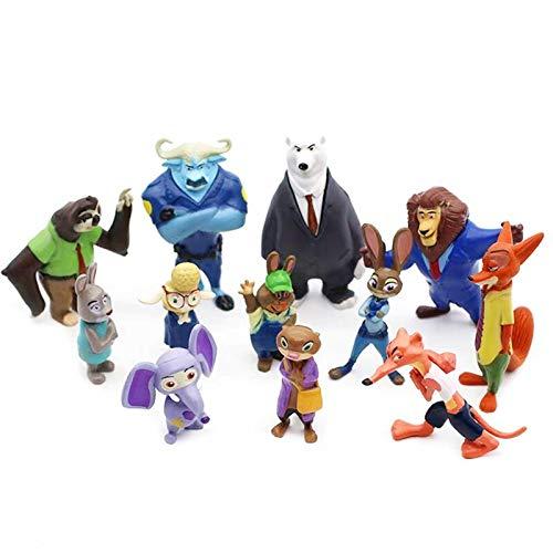 Cumpleaños Regalos 12pcs/set Disney Pixar Zootopia Dibujos Animados Anime Figura Nick Fox Judy Utopia Animal Modelo Juguetes Muñecas Niño Regalo De Cumpleaños