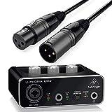 Behringer Interface Audio UM2 U-Phoria + Cable Premium XLR Macho/XLR Hembra 6 Metros