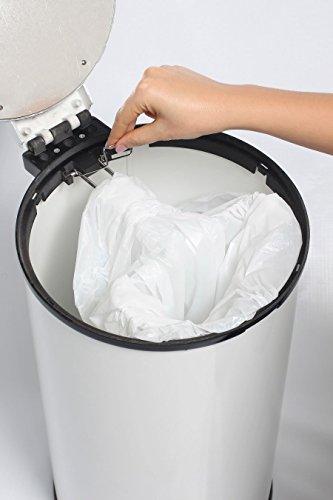 Bubula Steel Diaper Pail, White