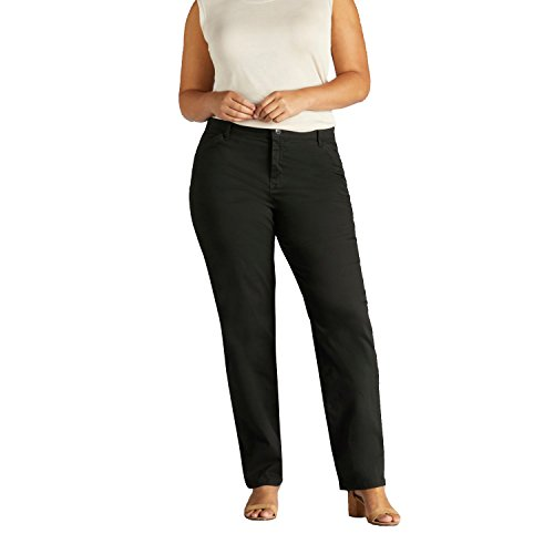 Lee Women's Plus-Size Relaxed-Fit All Day Pant, Black, 16W Medium