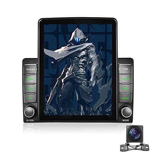 Autoradio Android Doppio Din-Bluetooth con Touchscreen HD da 9,5'',Autoradio con Navigazione,Collegamento Specchio,Radio FM,2 USB,DAB,OBD,WiFi,con Telecamera Posteriore AHD