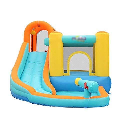 SGSG Tobogán para niños Castillo Inflable Casa Inflable Juguete trampolín Casa de Rebote Tobogán, con Pared de Malla Oxford, para el hogar, Interior y Exterior