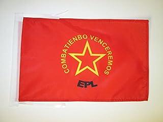 POPULAR LIBERATION ARMY OF COLOMBIA FLAG 45.72 cm x 30.48 cm 绳子 - EPL 小号扁平 30 x 45cm - 横幅 18x12 英寸 - AZ FLAG