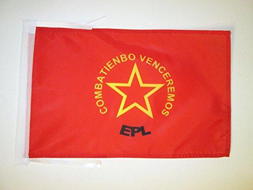 AZ FLAG Drapeau Armée Populaire de libération de Colombie 45x30cm - PAVILLON de l'EPL colombien 30 x 45 cm Haute qualité