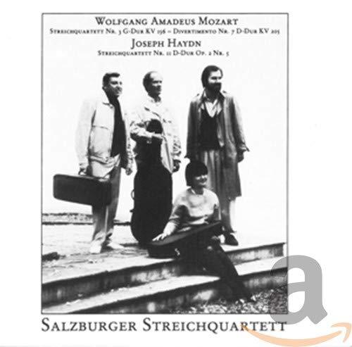 Mozart/Haydn : Streichquartett Nr.3/Nr.11. Salzburger Streichquartet.