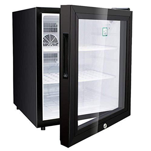 ZKDX 42L Cool Cool Electric Box Mini refrigeradores 220-240V Kiihlbox Pequeño rápida hacia Abajo Blanco, Blanco (Tamaño: Blanco) MXY (Color : Black Glass Door)