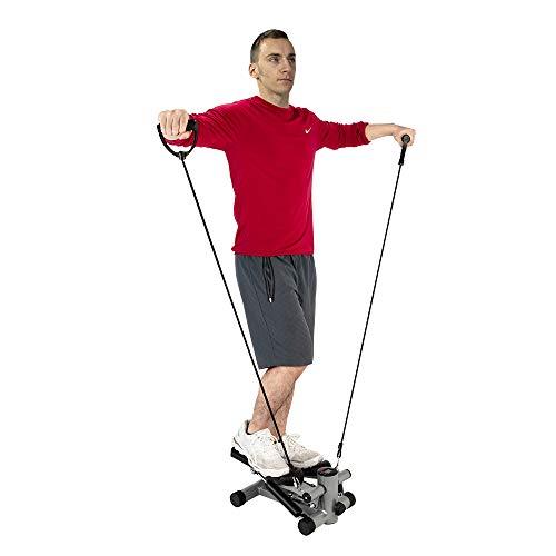 Hörsein Stepper mit Thera-Band geeignet für Anfänger und Fortgeschrittene auf und ab Stepper, klein und kompakt zu Hause Fitnessgeräte