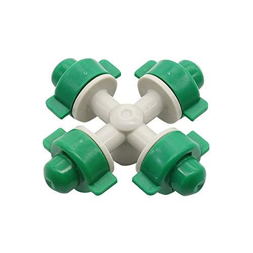 ZheQR Cross Mum Sprinkler 6 mm Interface Serre Arrosage Arrosage Arroseur Outils et équipement de Jardinage Atomiseur 20 Pcs, Noir