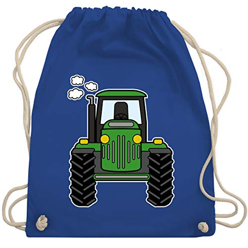 Shirtracer Andere Fahrzeuge - Traktor Front - Unisize - Royalblau - rucksack traktor - WM110 - Turnbeutel und Stoffbeutel aus Baumwolle