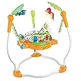 WXCymhy Baby Schaukel Multifunktionale Baby Light Music Jump Stuhl Musik Kinder Fitness Stuhl Jump Stuhl Babyprodukt (Color : Orange)
