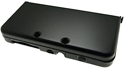 BLACK New Nintendo 3DS Case for New 3DS N3DS Aluminum Metal Crystal Case Protector Cover + Free Screen Protectors