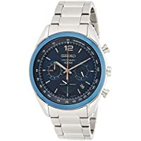 Seiko SSB091 Chronograph Blue Dial Stainless Steel Men's Watch