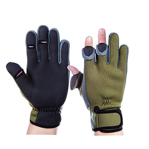 釣り手袋 釣りグローブ 指切り 指3本出す フィッシング グローブ 滑り止め 防寒 手袋 調節可能 (M)