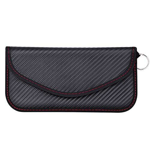 Samfolk Keyless Go Schutz Autoschlüssel Faraday Handy Tasche Schwarz Groß
