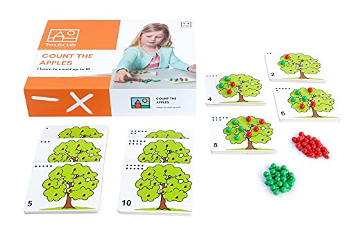 Toys for Life   zähle die Äpfel   Lehrmaterialien Mathematik   Mathematik   Ab 36 Monate   Bis 72 Monate, Farbskala