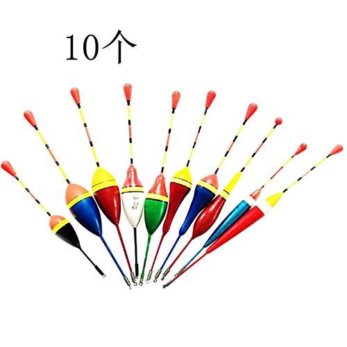 Cikuso 10 PZ Galleggianti da Pesca Set Buoy Bobber Fluttuare Mix Size Colore Galleggiante Boa Pesca Light Stick Galleggianti