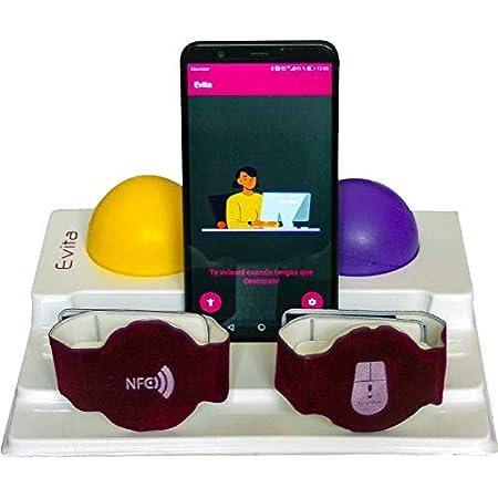 Reposamuñecas para ratón y teclado • Con las muñequeras ergonómicas,