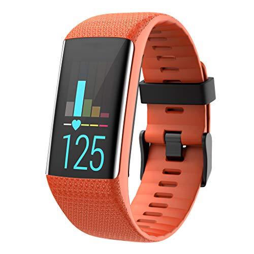Ersatz-Armband für Polar A370 A360 Ersatzarmband, Silikon Ersatzband Ersatzarmband Uhrenarmband Replacement Wechselarmband Watch Band Fitness Tracker Sportband Uhrband (Orange)
