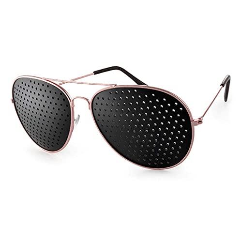 LIPIODOL Gafas Reticulares Gafas antifatiga Agujeros Estenopeicas Anti-miopia Unisex Ejercicio Anti-fatiga Gafas de Sol