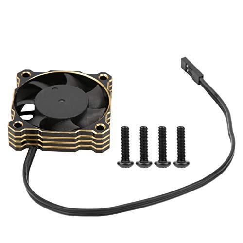 XINMYD Ventilador de refrigeración RC, Ventilador de refrigeración de Motor eléctrico de Alta Velocidad 40x40mm 16000RPM 5V-9V Apto para 1/10 1/8 1/12 RC(Oro)
