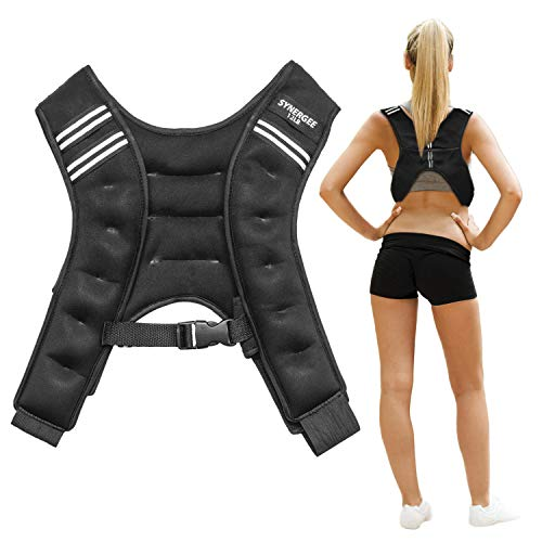 Synergee Weighted Vest Infinity Vest Workout Equipment - Body Cardio Walking or Running Vest - 12lbs