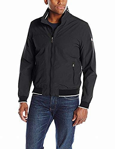 Tommy Hilfiger Men's Yachting Bomber Jacket, Black, Medium