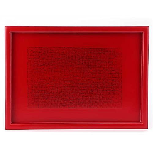 Serveringsbricka, äta brickor Mellanbricka Träplatta för hotell för vardagsrum för hem för restaurang(red, blue)
