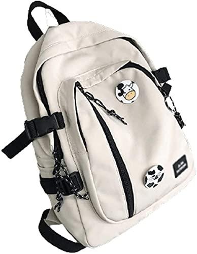 LONGJIQ Casual Daypacks Nylon School Bags -Coups Casual Daypacks Estudiantes Juveniles Tendencia Mochilas prácticas Mochilas de Viaje con una Mochila de la Insignia-L_Blanco Fantastic