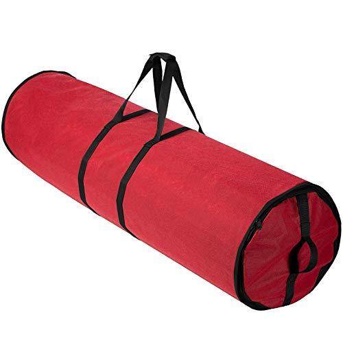 Bolsa de almacenamiento para envolver regalos de Navidad, cilíndrica, bolsa de almacenamiento de papel de regalo, duradera y ligera
