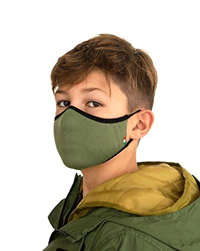 Relaxsan UNIMA KIDS [Dunkelgrün] – Höflichkeitsband waschbares wiederverwendbar KINDER 6-10 JAHREN - leichtes atmungsaktives Dryarn und X-Static