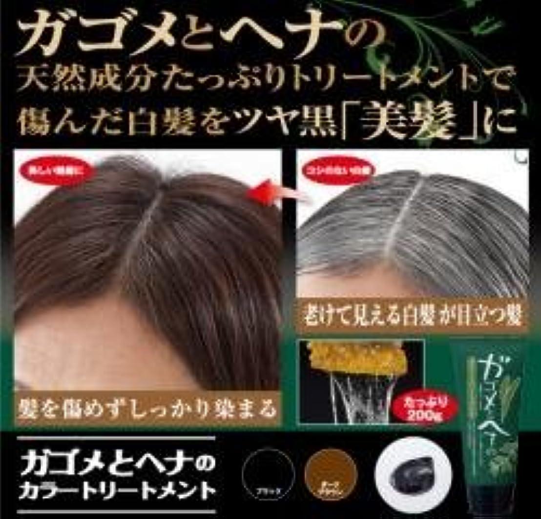 ガゴメとヘナのカラートリートメント ブラック 100g ※髪を傷めずしっかり染まる!